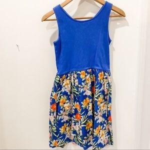 Gap Kids summer dress with tropical flowers